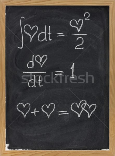 Matematika szeretet számtan képletek szív érv Stock fotó © PixelsAway