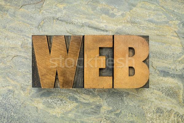 web word in wood type Stock photo © PixelsAway