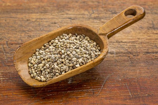 scoop of hemp seeds Stock photo © PixelsAway