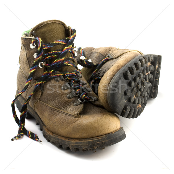 old heavy hiking boots Stock photo © PixelsAway