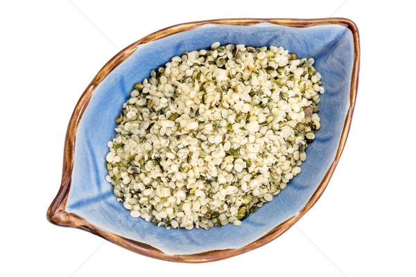 hemp seed hearts in a bowl Stock photo © PixelsAway