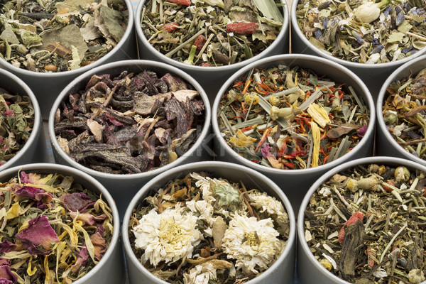 herbal tea sampler collection Stock photo © PixelsAway