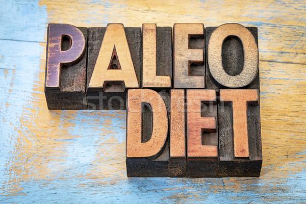 Paleo dieta parola abstract vintage Foto d'archivio © PixelsAway