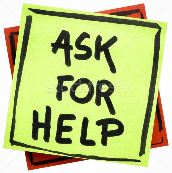 Sormak yardım hatırlatma el yazısı yalıtılmış Stok fotoğraf © PixelsAway