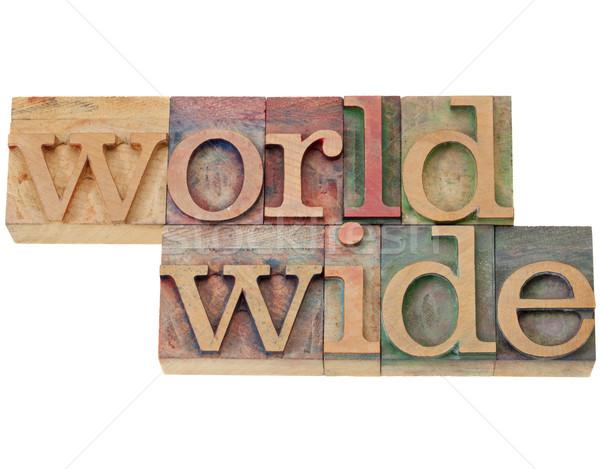 worldwide word in letterpress type Stock photo © PixelsAway