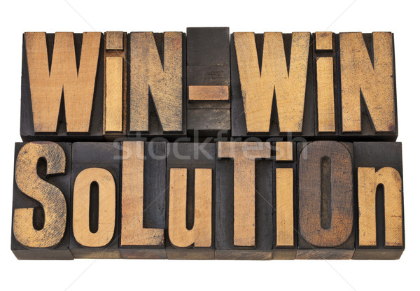 win-win solution in letterpress Stock photo © PixelsAway