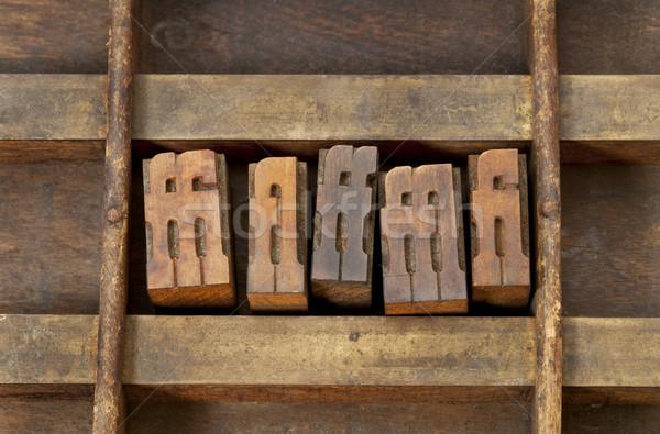 ligature letterpress printing blocks Stock photo © PixelsAway