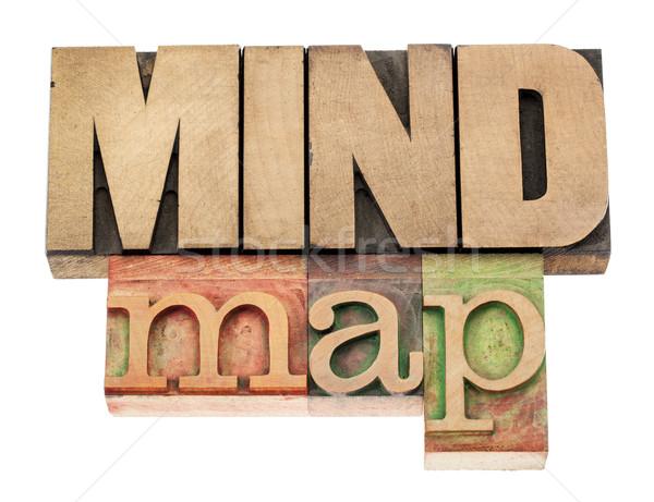 mind map in wood type Stock photo © PixelsAway