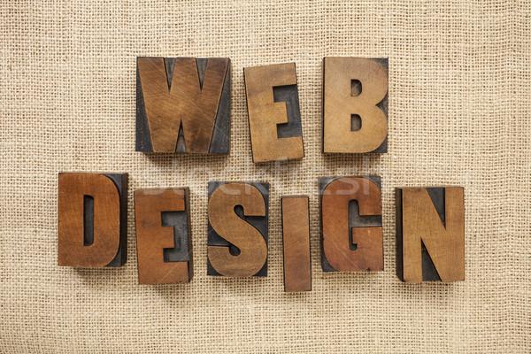 Zdjęcia stock: Web · design · drewna · typu · bloków · tekst · vintage