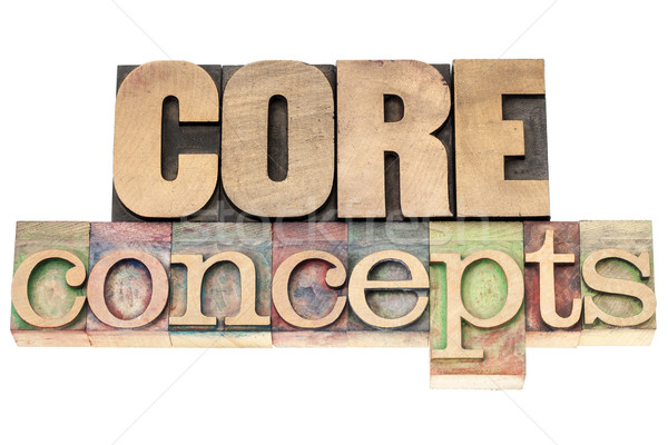 core concepts in wood type Stock photo © PixelsAway