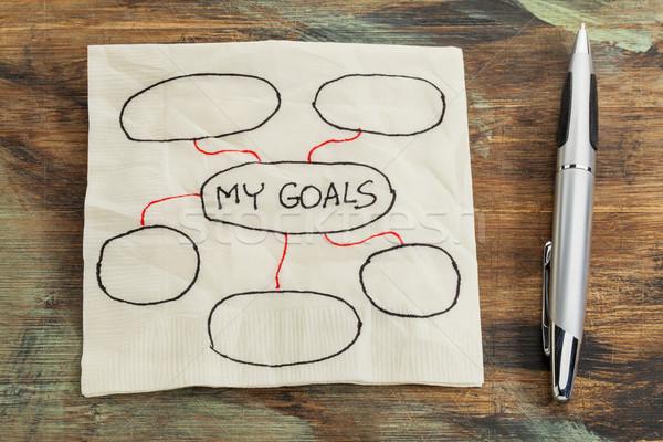 setting goals napkin doodle Stock photo © PixelsAway