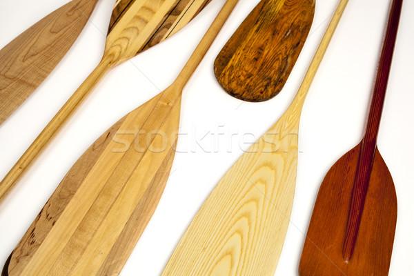 Kenu absztrakt fából készült különböző formák Stock fotó © PixelsAway