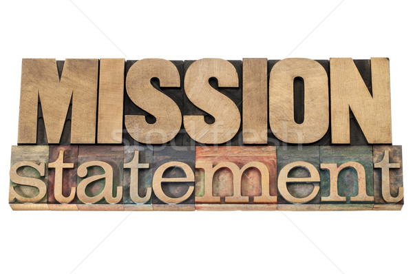 Missie hout type business geïsoleerd tekst Stockfoto © PixelsAway