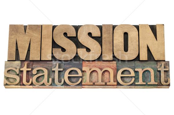 Missão madeira tipo negócio isolado texto Foto stock © PixelsAway