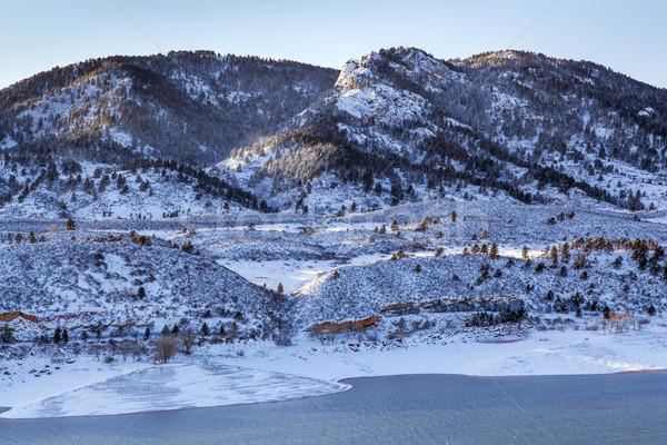 mountain lake in winter scenery Stock photo © PixelsAway