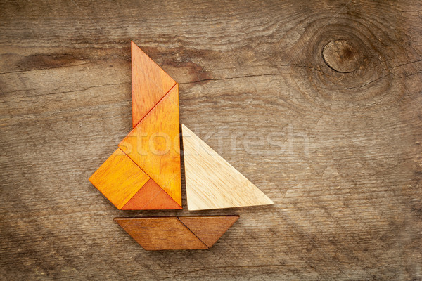 sailing yacht abstract Stock photo © PixelsAway