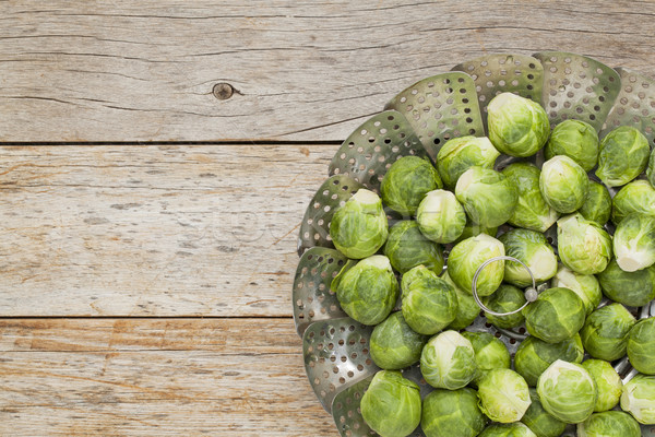 Brussels sprouts in steamer Stock photo © PixelsAway