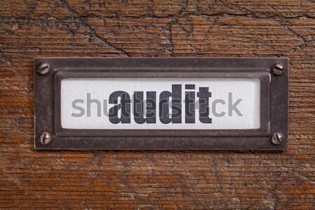 vintage label holder Stock photo © PixelsAway