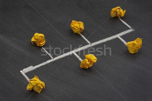 Hálózat busz hátgerinc modell kettő citromsárga Stock fotó © PixelsAway