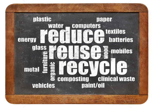 reduce, reuse, recycle word cloud Stock photo © PixelsAway