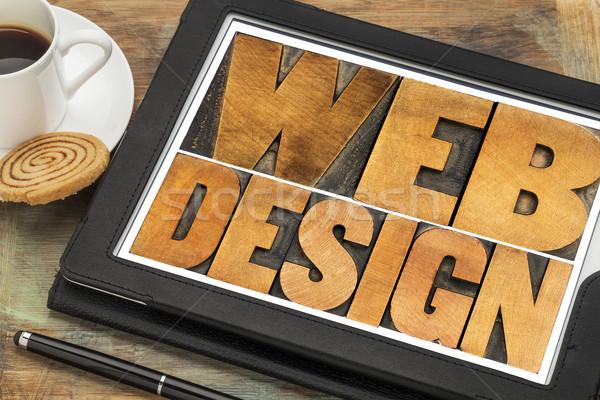 web design on a digital tablet Stock photo © PixelsAway