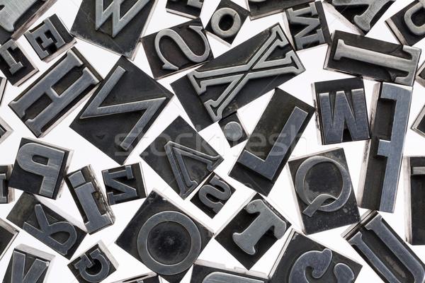 ランダム 文字 金属 タイプ ヴィンテージ ストックフォト © PixelsAway