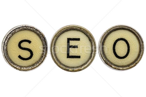 Seo akronim maszyny do pisania klucze starych Zdjęcia stock © PixelsAway