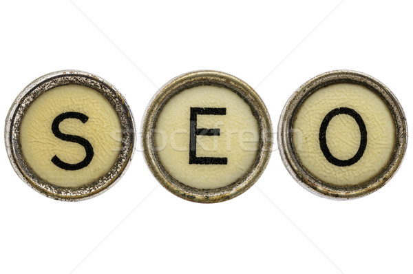 Seo акроним машинку ключами старые Сток-фото © PixelsAway