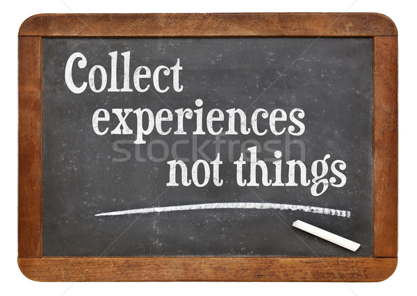 Collect experiences not things Stock photo © PixelsAway