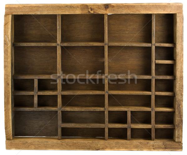 old typesetter case Stock photo © PixelsAway
