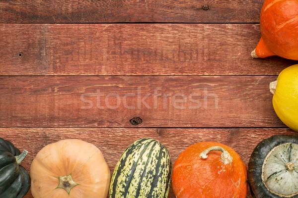 Rouge grange bois squash variété hiver Photo stock © PixelsAway
