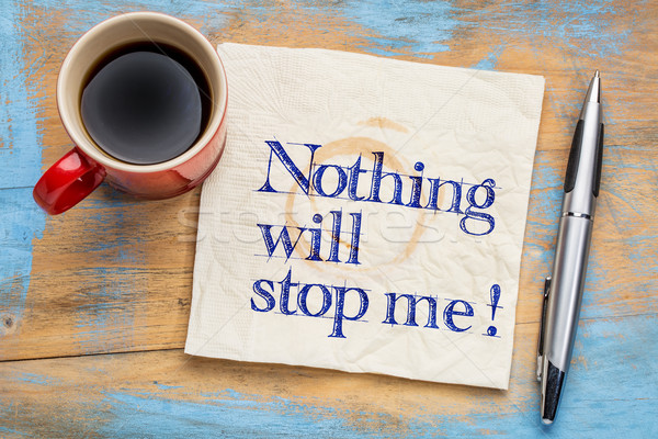 Nothing will stop me! Stock photo © PixelsAway