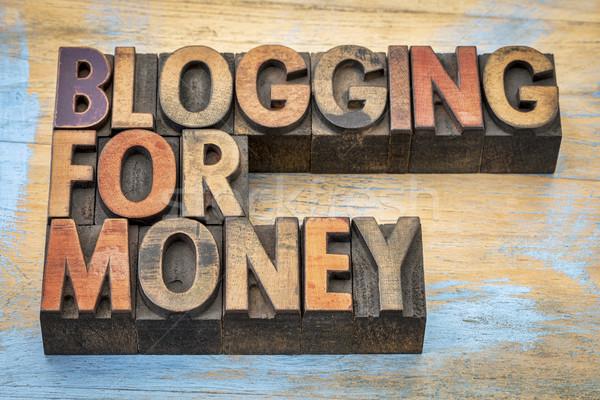 Blogging ceny banner Internetu przedsiębiorca tekst Zdjęcia stock © PixelsAway