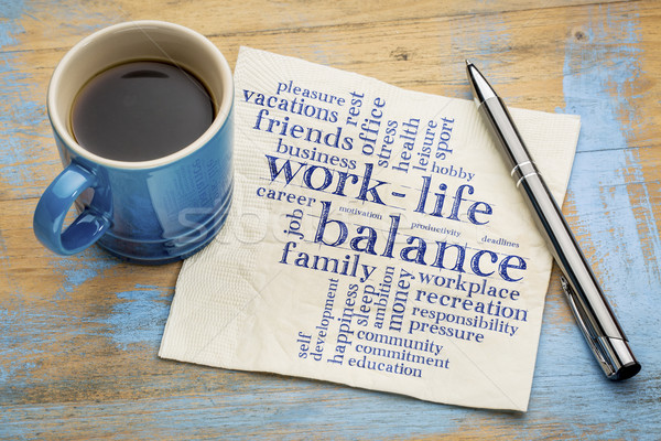 Stock photo: work life balance word cloud