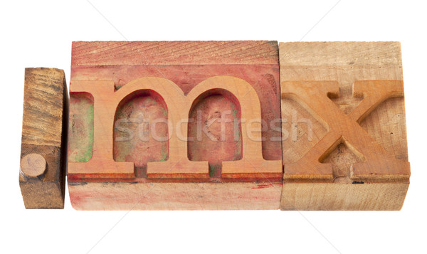 メキシコ インターネット ドメイン ヴィンテージ 木製 ストックフォト © PixelsAway
