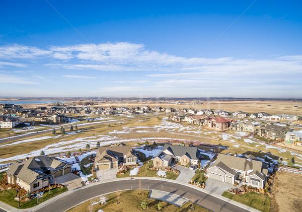 new house development aerial view Stock photo © PixelsAway