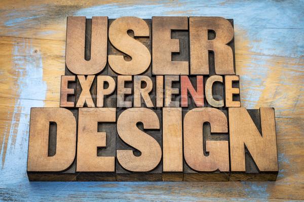 Felhasználó tapasztalat terv szó absztrakt klasszikus Stock fotó © PixelsAway