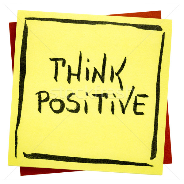 Pensar positivo inspirado lembrete letra isolado Foto stock © PixelsAway