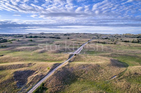 Arenoso estrada primavera cenário manhã Foto stock © PixelsAway