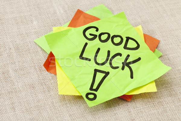 Good luck on sticky note Stock photo © PixelsAway