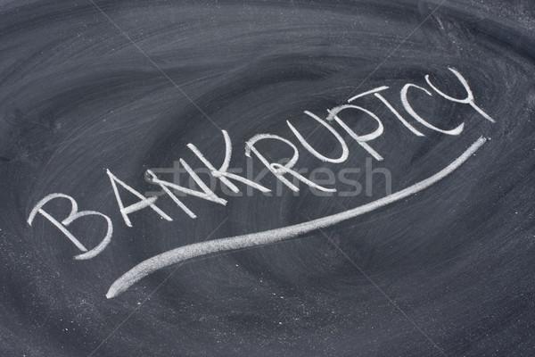 банкротство слово доске белый мелом почерк Сток-фото © PixelsAway