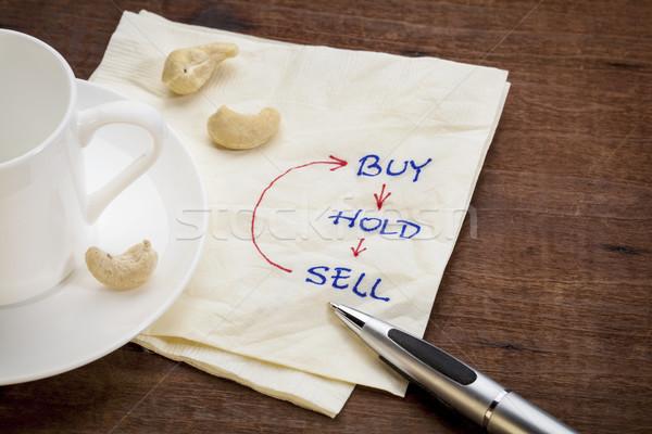 Comprar manter vender guardanapo copo Foto stock © PixelsAway