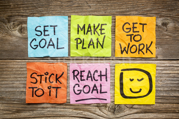 set and reach goal concept Stock photo © PixelsAway