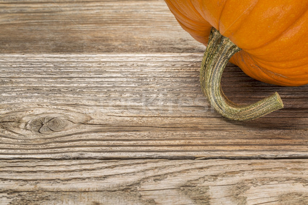 weathered wood with pumpkin Stock photo © PixelsAway