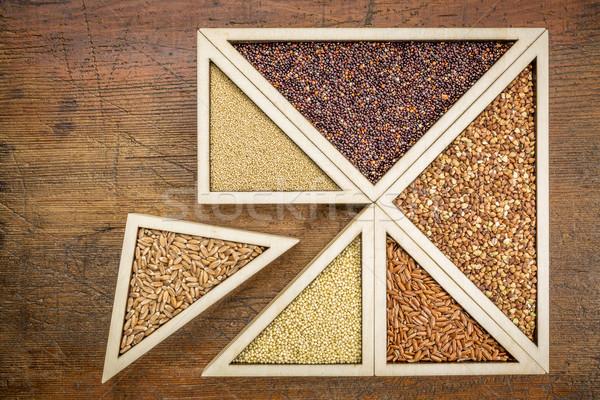 Búza gluténmentes magvak bogyók alternatív rizs Stock fotó © PixelsAway