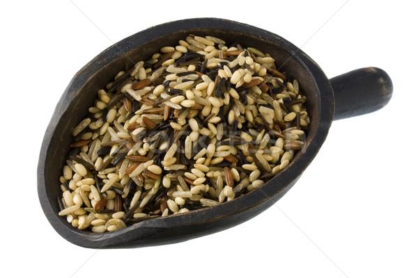 scoop of wild and brown rice Stock photo © PixelsAway