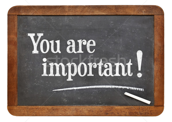 You are important on blackboard Stock photo © PixelsAway