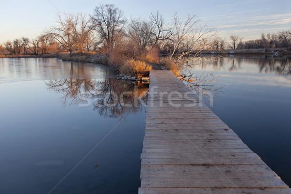 ösvény tó természet nyom öreg sóder Stock fotó © PixelsAway