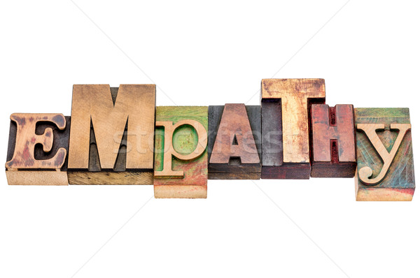 empathy word abstract in wood type Stock photo © PixelsAway