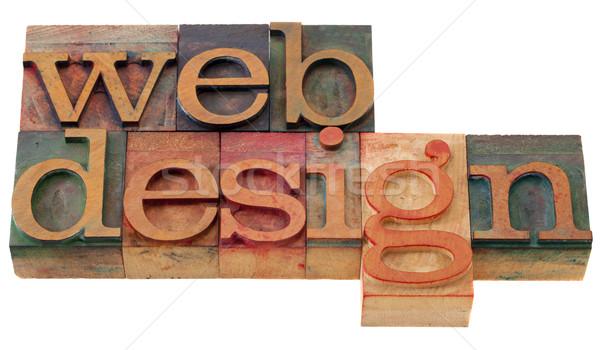 Webデザイン 単語 ヴィンテージ 木製 印刷 ストックフォト © PixelsAway